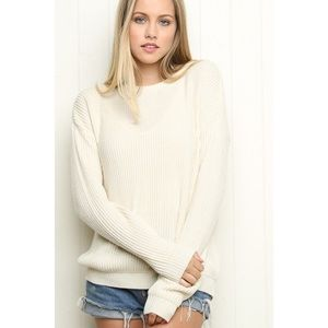 Brandy Melville Ollie Sweater in Ivory